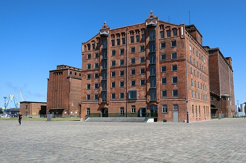 Wismar Storehouse District, Thorman-Storehouse, built in 1862 for the storage of grain Heritage Dietlind .Kruse